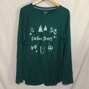 Snow Days Sleep Shirt Long Sleeve